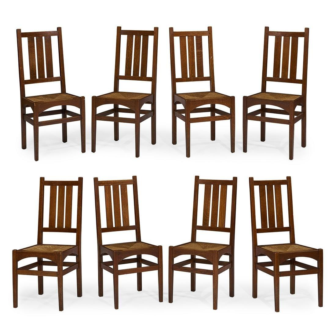 Gustav Stickley / Harvey Ellis side chairs, eight