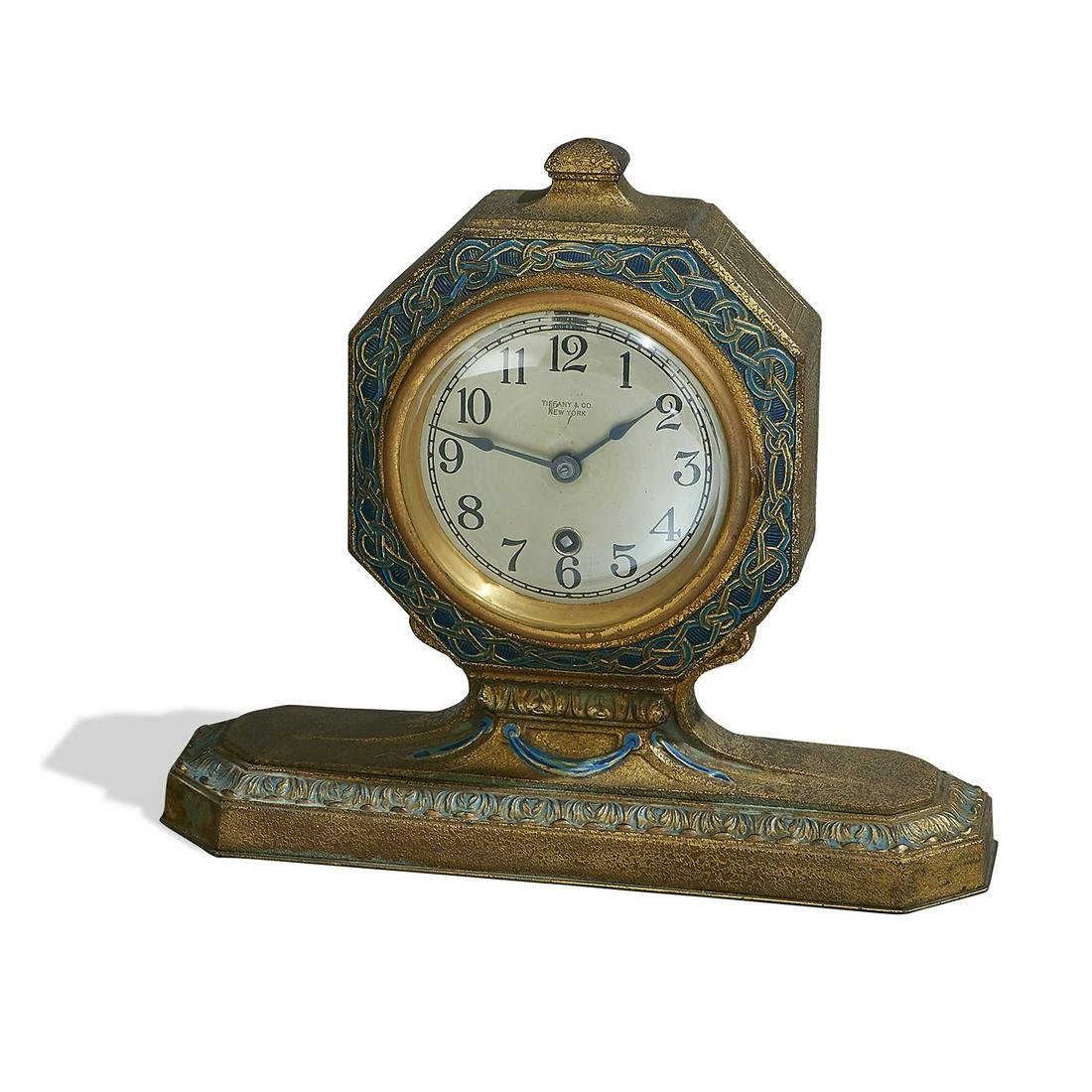 Tiffany Studios desk clock, #1870
