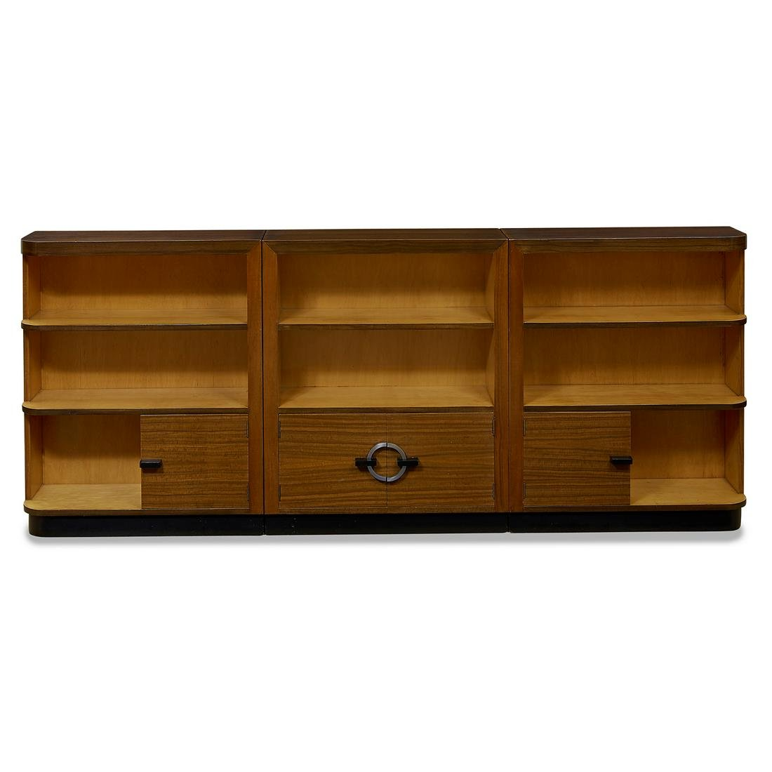 Gilbert Rohde for Herman Miller bookcases, three