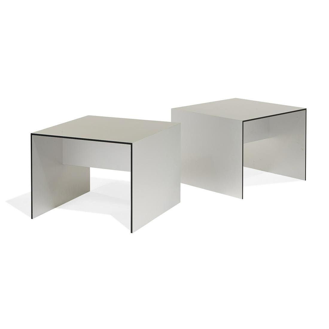 Antonio Citterio for B&B Italia side tables, two