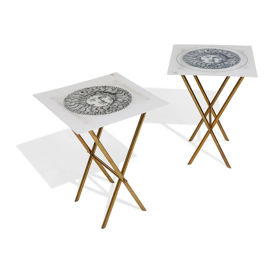 Barnaba Fornasetti (b.1950) occasional tables, pair