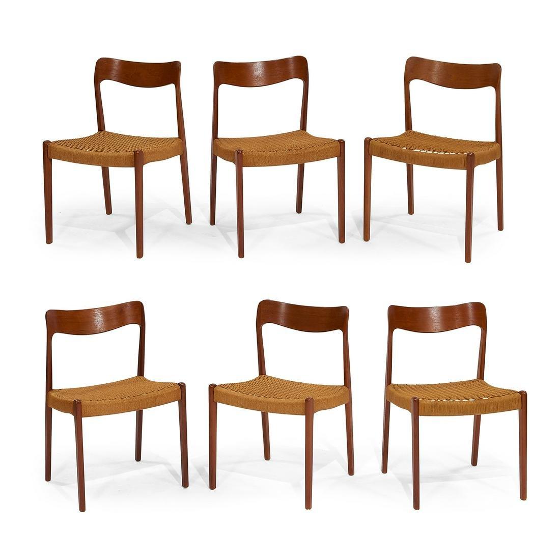 Danish Modern dining chairs, set of six