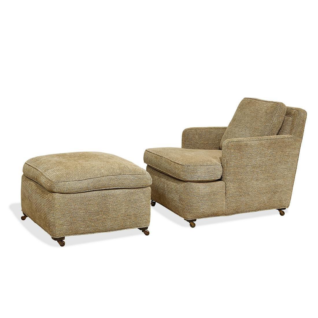 Edward Wormley for Dunbar lounge chair & ottoman