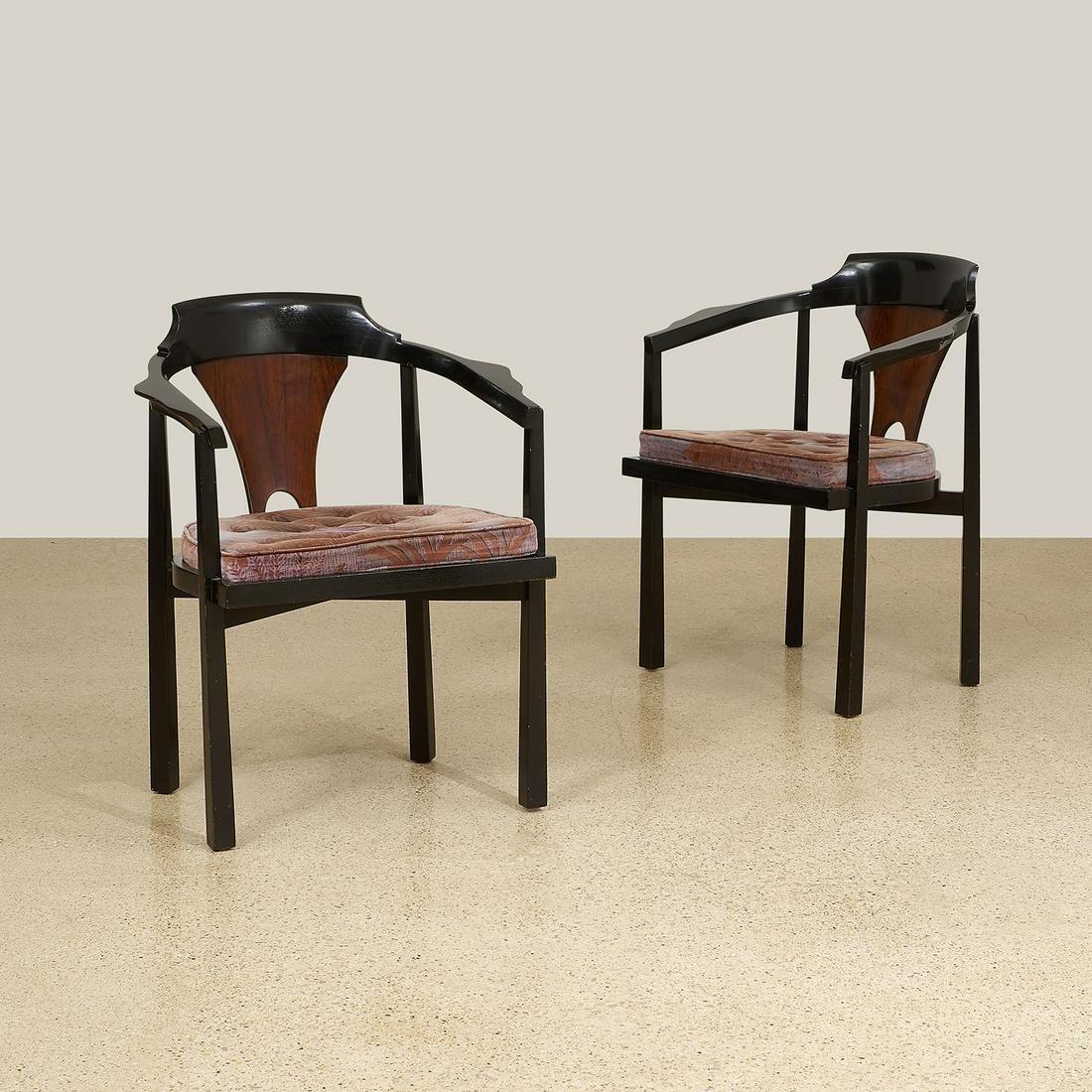 Edward Wormley for Dunbar armchairs, pair, #935