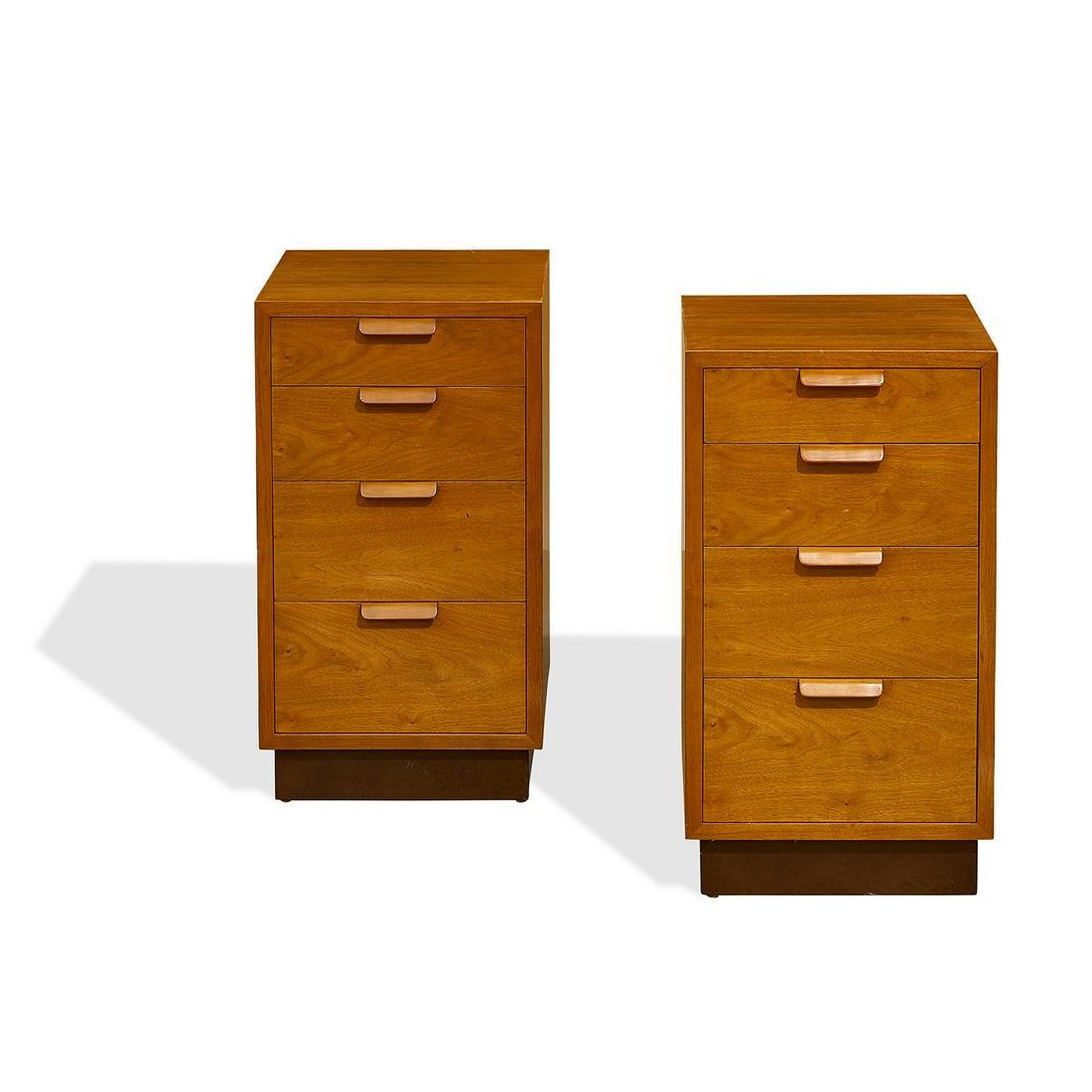 Edward Wormley for Dunbar nightstands, pair