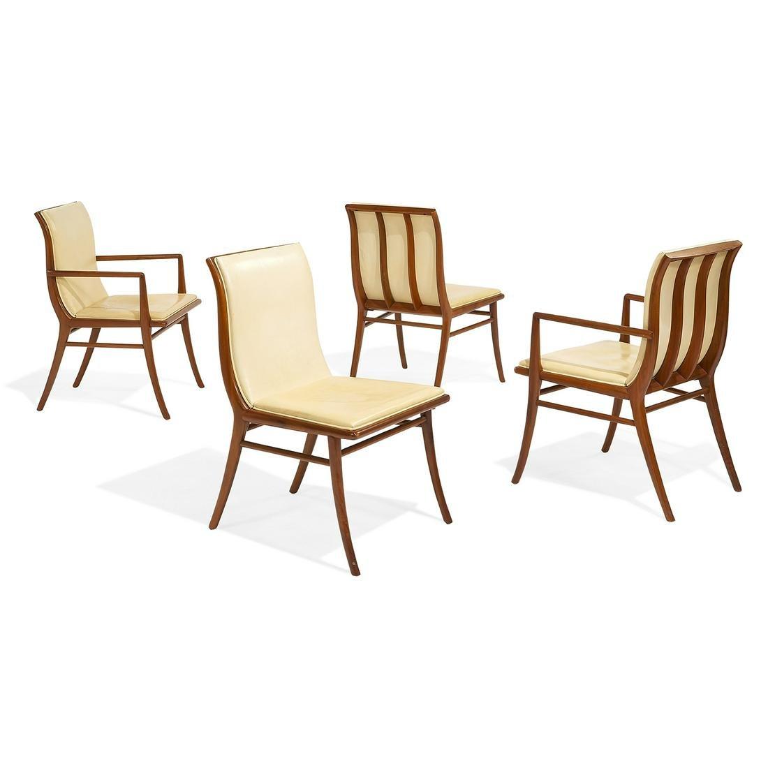 T.H. Robsjohn-Gibbings for Widdicomb chairs, four