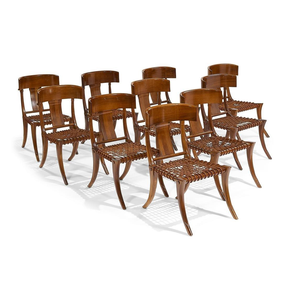 After T.H. Robsjohn-Gibbings Klismos chairs