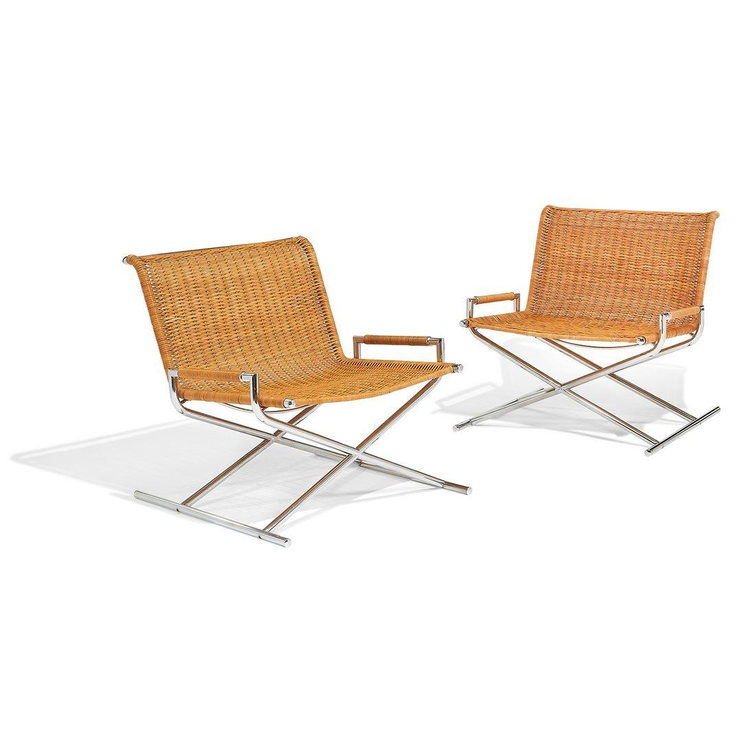 Ward Bennett for Brickell Associates Sled chairs