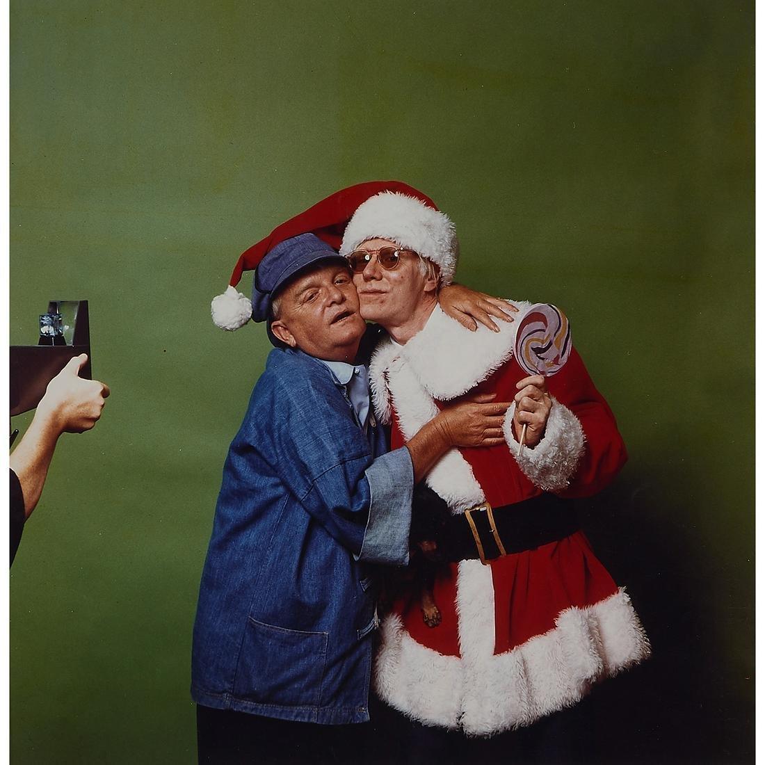 Mick Rock, Truman Capote and Andy Warhol, 1978