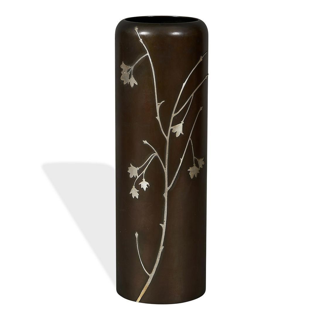 Heintz Art Metal Shop cylinder vase