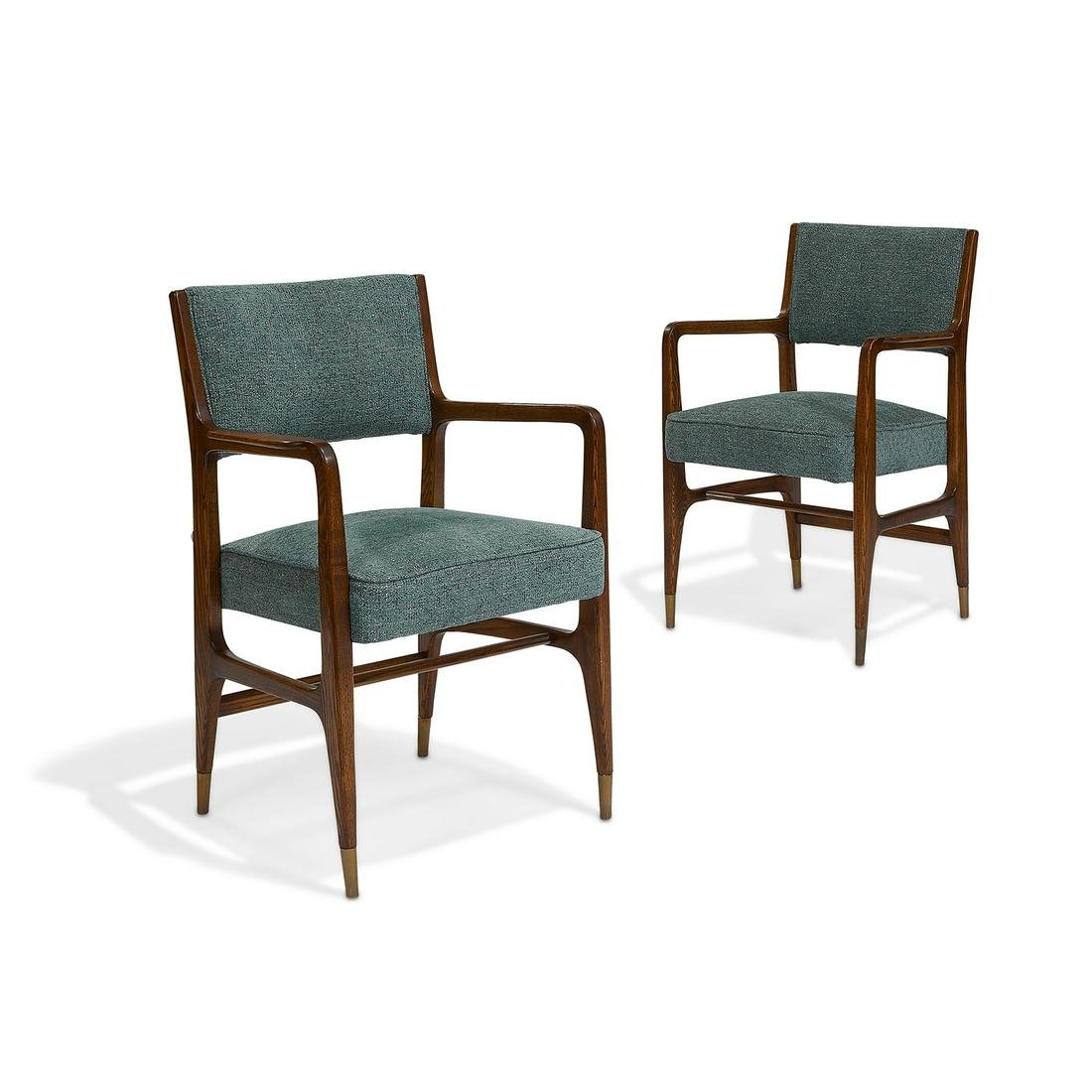 Gio Ponti for Cassina armchairs, pair