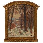 Carl Krafft, Through the Woods, oil on panel