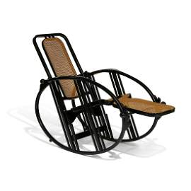 Attr. Max Fabiani, Volpe / Wittmann, Egg Rocking Chair