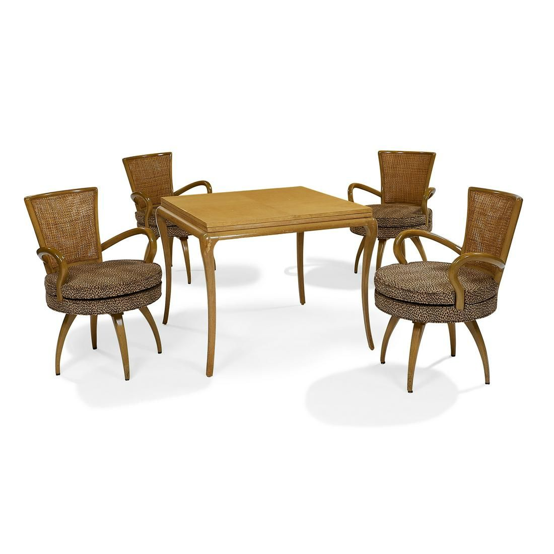 In the Style of Tommi Parzinger table & 4 chairs