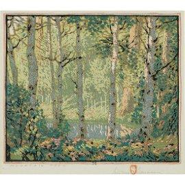 Gustave Baumann, Mountain Pool, 1920