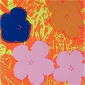 Andy Warhol, Flowers, color screenprint