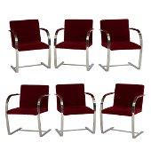 Ludwig Mies van der Rohe Brno chairs, set of 6