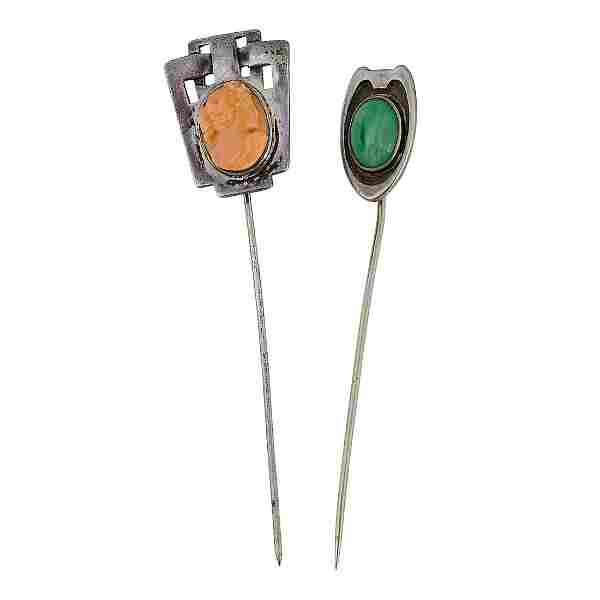 Carence Crafters & The Kalo Shop stick pins, two