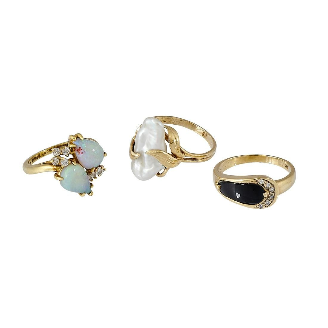 Vintage three ladies rings