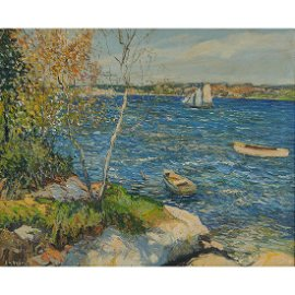 Edward Willis Redfield, Overlook at Boothbay…