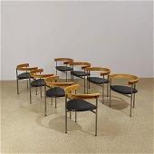 Poul Kjærholm PK 11 dining chairs, set of eight