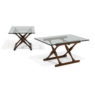 Poul Hundevad Guldhøj folding tables, pair, #PH42