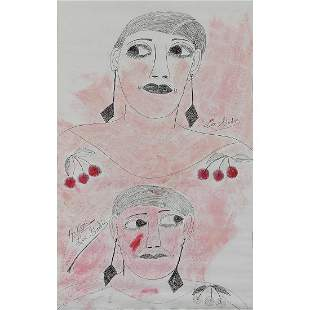 Lee Godie, Figures, with Valuable Hand