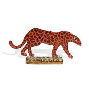 Howard Finster, Leopard, 1991