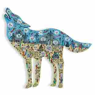 Howard Finster, Howling Wolf, 1990