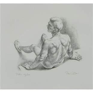Paul Cadmus, Teddo, 1985, lithograph