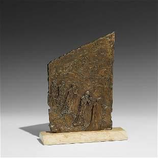 Salvador Dali, The Wailing, bronze w/ gold patina