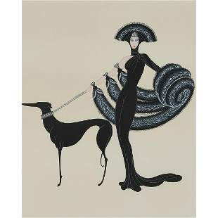 Erté, Ebony and White (pair of works), 1987