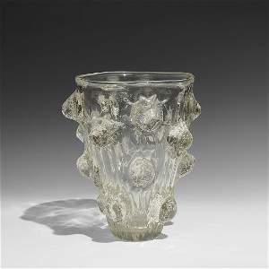 Ercole Barovier large A Mugnoni vase