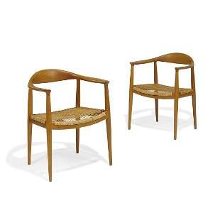 Hans Wegner for Johannes Hansen The Chairs, pair