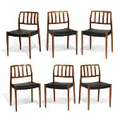 Niels Otto Møller dining chairs, set of 6