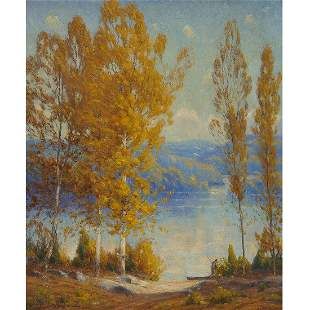 Gustave Wiegand,  Autumn Lake Landscape