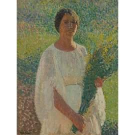 Henri Martin, Femme au Fleurs, circa 1903