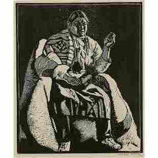 Howard Norton Cook, Taos Indian (Fat John)