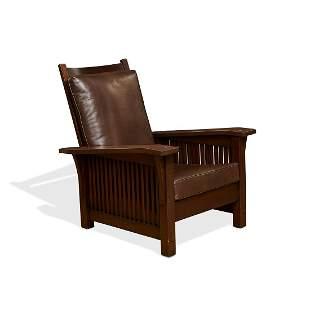 Gustav Stickley Morris chair, #369