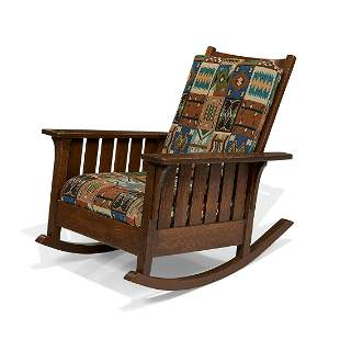 L. & J.G. Stickley rocking chair, #475