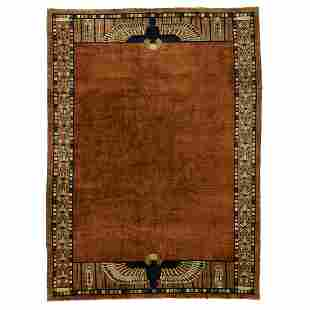 Chinese Art Deco Egyptian Revival area rug