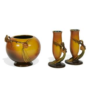 Roseville Pottery Co. group of 3