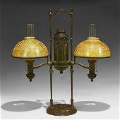 Tiffany Studios Moorish double student lamp