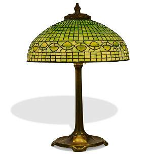 Tiffany Studios table lamp, Acorn shade