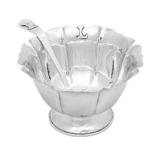 Falick Novick lobed footed sauce bowl & ladle