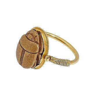 Likely Egyptian scarab ring