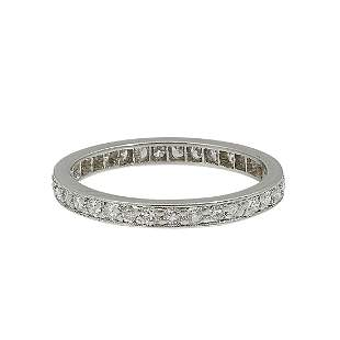 Vintage platinum and diamond eternity band