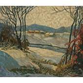 Artist Unknown, Winter Landscape, 1932