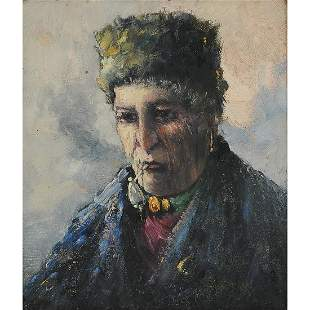 Artist Unknown, Portrait of a Woman with..