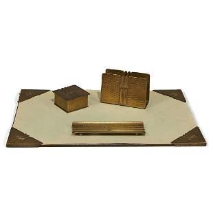 The Roycrofters desk set, four pieces
